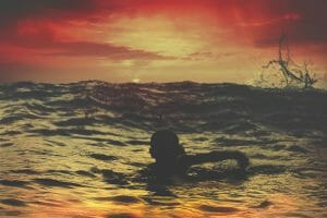 swimming with the current